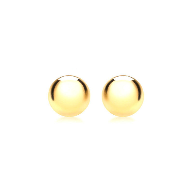 9ct Yellow Gold 10mm Half-Ball Polished Stud Earrings