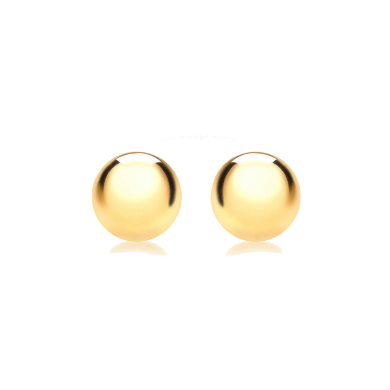 9ct Yellow Gold 12mm Half-Ball Polished Stud Earrings