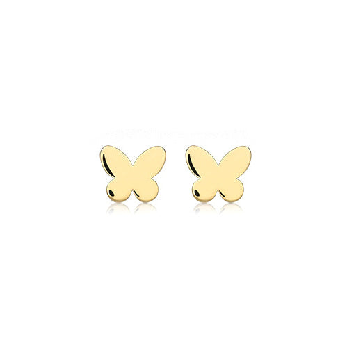 9ct Yellow Gold Flower Stud Childrens Earrings