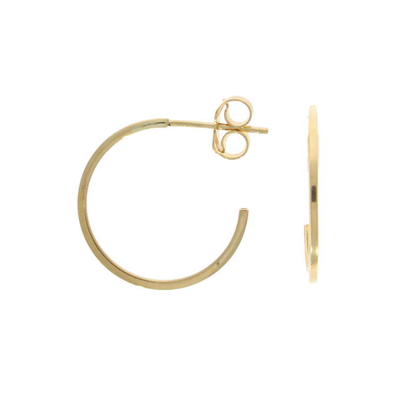 9ct Gold 15mm Hoop with Stud Fitting 2 view