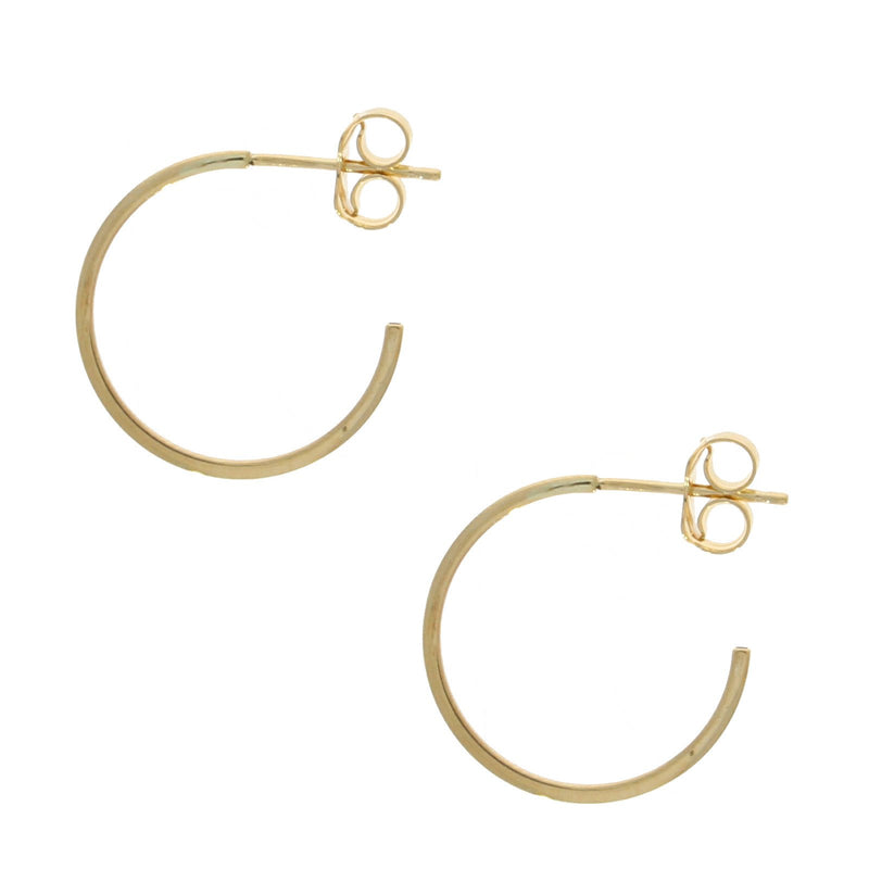 9ct Gold 15mm Hoop with Stud Fitting