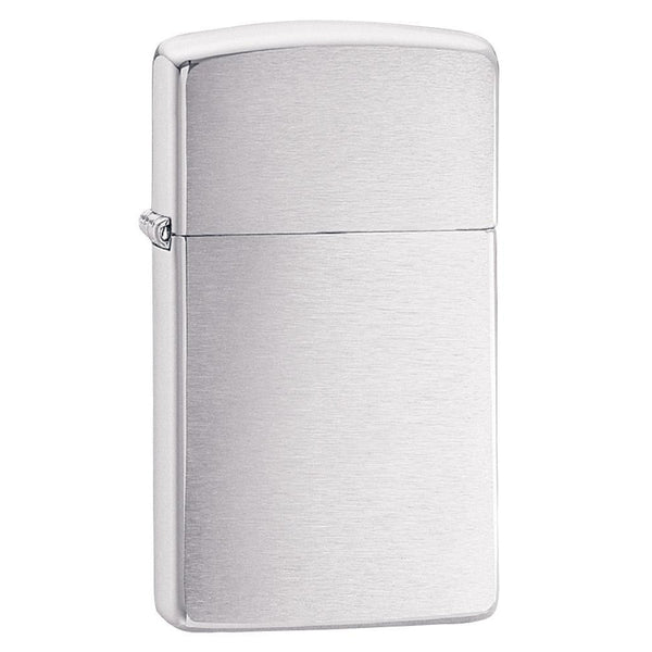 Zippo Slim Brushed Chrome Lighter 1610