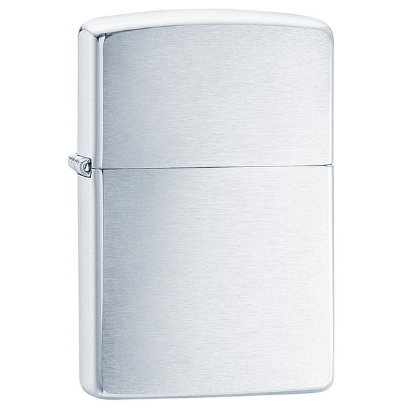 Zippo Brushed Chrome Lighter 200REG