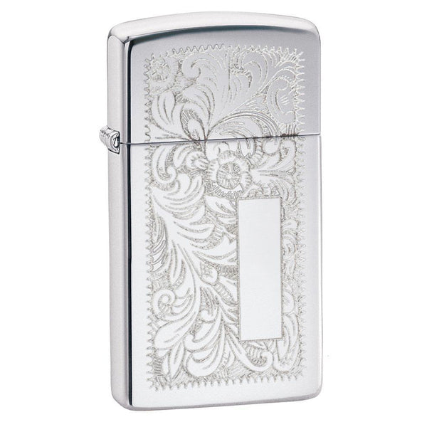 Zippo Slim® High Polished Chrome Venetian® Lighter 1652