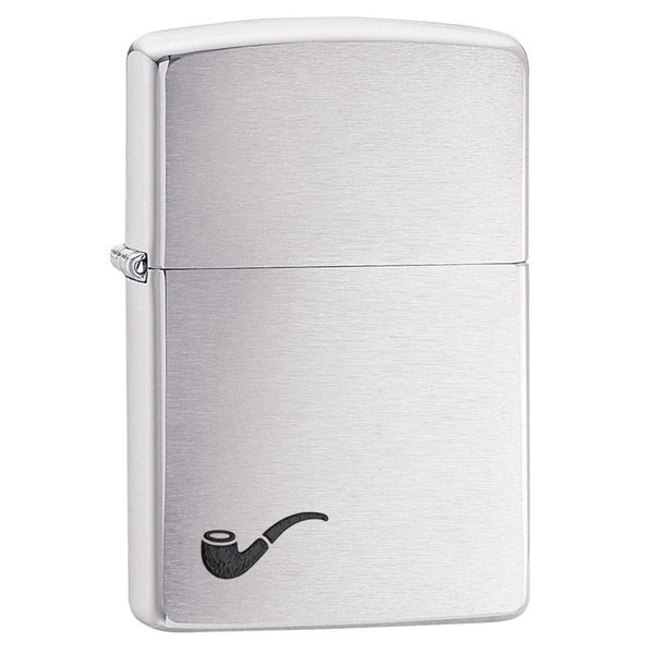 Zippo Pipe Brushed Chrome Lighter 200PL