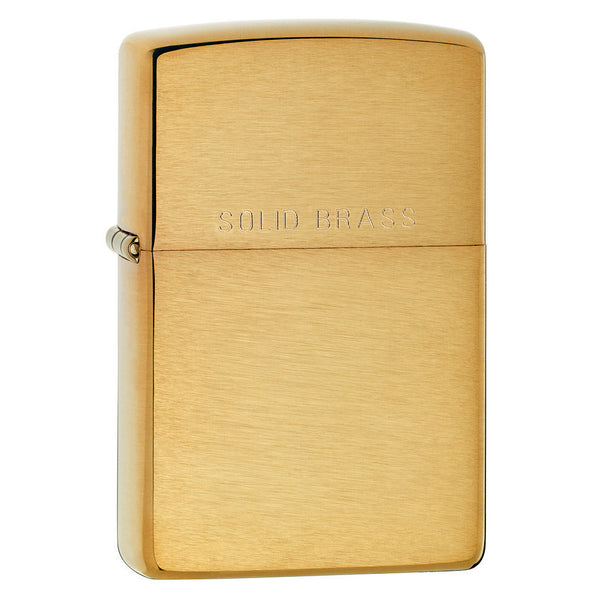 Zippo Brushed Brass Lighter 204