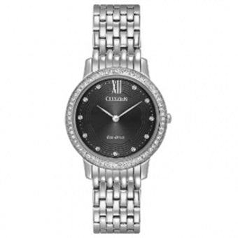 Citizen Ladies Eco Drive Silhouette Crystal Watch EX1480-58E