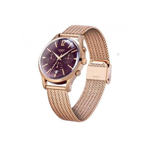 Henry London Ladies Hampstead Rose Mesh Bracelet Watch HL39-CM-0088