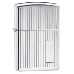 Zippo High Polished Chrome Stripes Lighter 350