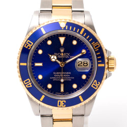 Pre Owned Rolex Submariner 16613 Gents Bi Metal Watch