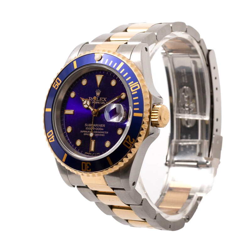 Pre Owned Rolex Submariner 16613 Gents Bi Metal Watch SIDE