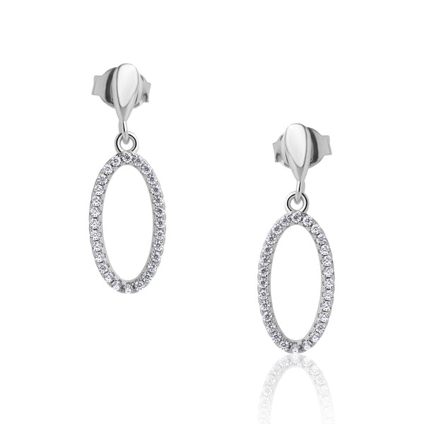 The Real Effect Oval Drop Earrings RE47054