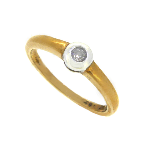 Solitaire Diamond 0.15ct Ring Diamond 9ct Yellow Gold