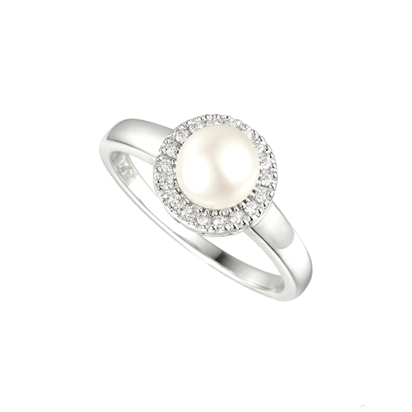 Amore Pearl Candy Silver Freshwater Pearl Ring 6071