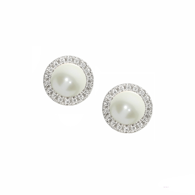 Amore Argento Candy Pearl Earrings 6073E
