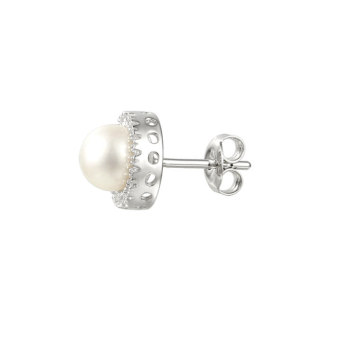 Amore Argento Candy Pearl Earrings 6073E side