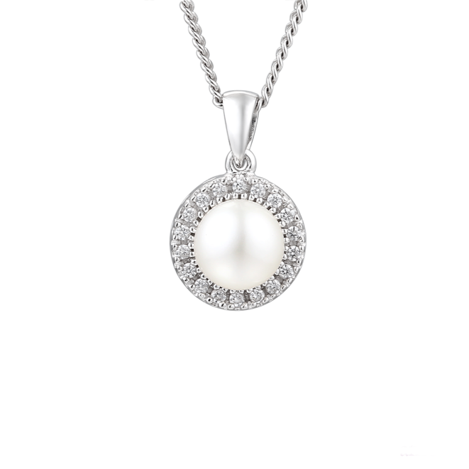 Amore Argento Pearl Necklace 6073P