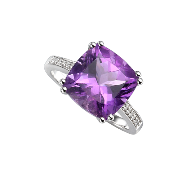 Silver Vivacious Violet Ring by Amore