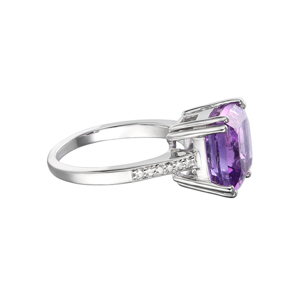 Silver Vivacious Violet Ring by Amore 6230SILCZ/AM