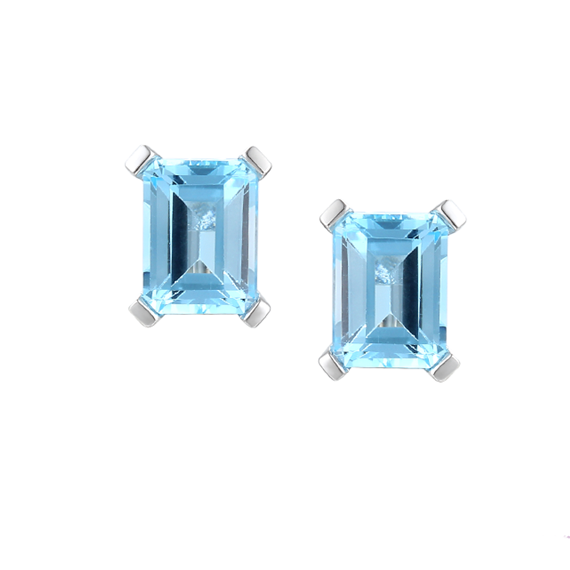 Amore Silver Blue Lagoon Topaz Earrings
