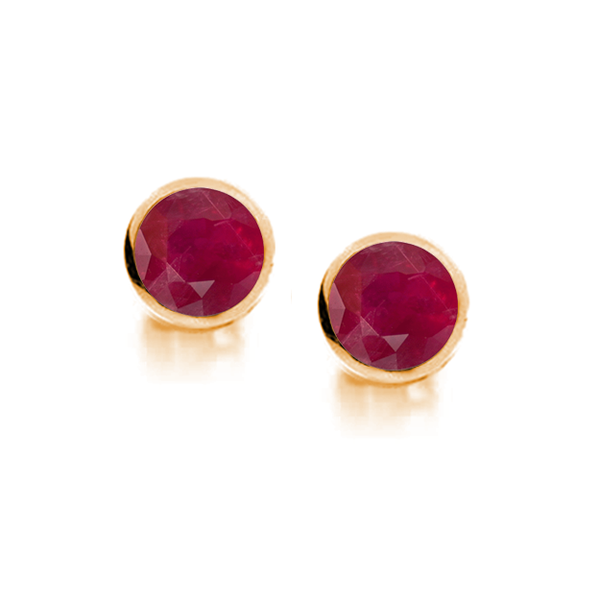 Amore 9ct Gold 3.5mm Ruby Earrings