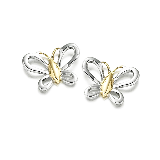 9ct Yellow & White Gold Florence Earrings by Amore 6602WY
