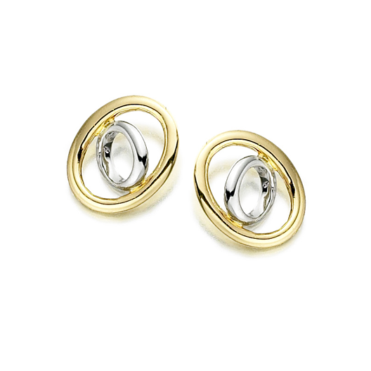 9ct Yellow & White Gold Ella Earrings by Amore 6605YW