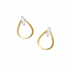 9ct Yellow & White Gold Cyra Earrings by Amore 6691YW