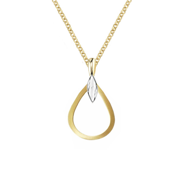 9ct Yellow & White Gold Cyra Necklace by Amore 6691PYW
