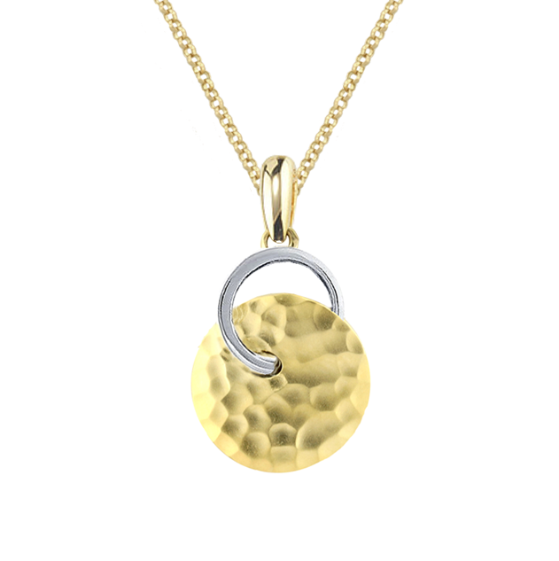 Electra 9ct Yellow & White Gold Forged Pendant by Amore 6699PYW