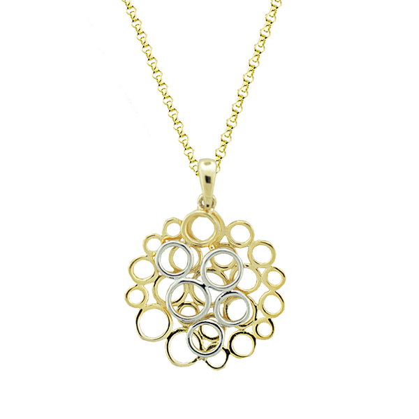9ct Yellow & White Gold Globes Pendant by Amore 6801YW