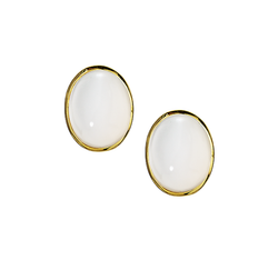 9ct Yellow Gold Moonstone Earrings by Amore 6836YMS