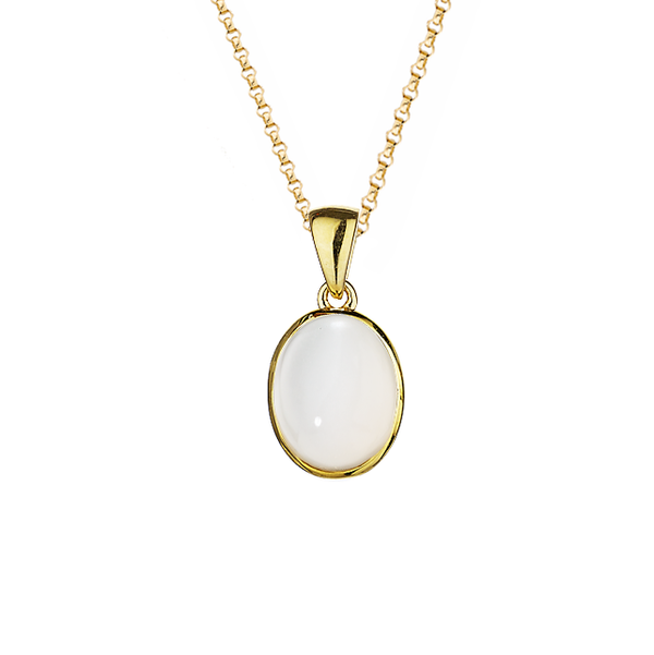 9ct Yellow Gold Moonstone Pendant by Amore 6837YMS