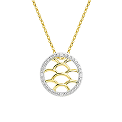 9ct Yellow & White Gold Maze Pendant by Amore 6870YWD