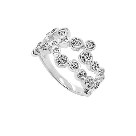 Diamond 23 Stone Eternity Ring 1.39ct 9ct White Gold