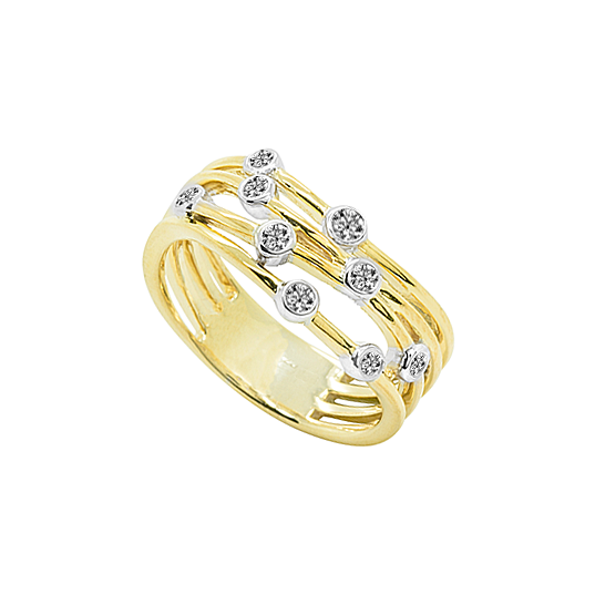 9ct Yellow Gold Haze Diamond Ring by Amore 6884YD