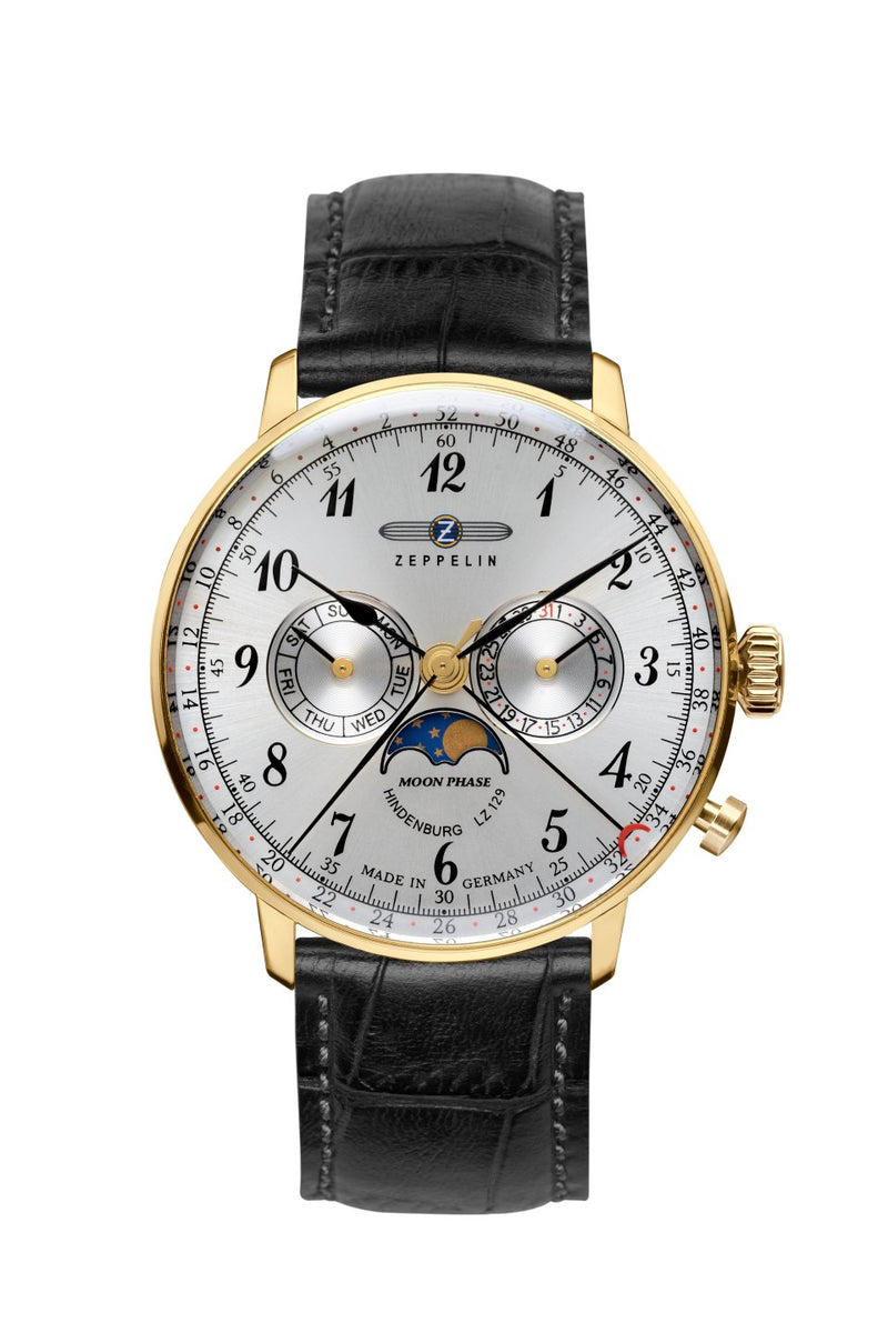 Zepellin LZ129 Hindenburg Moonphase Men's Watch 7038-1