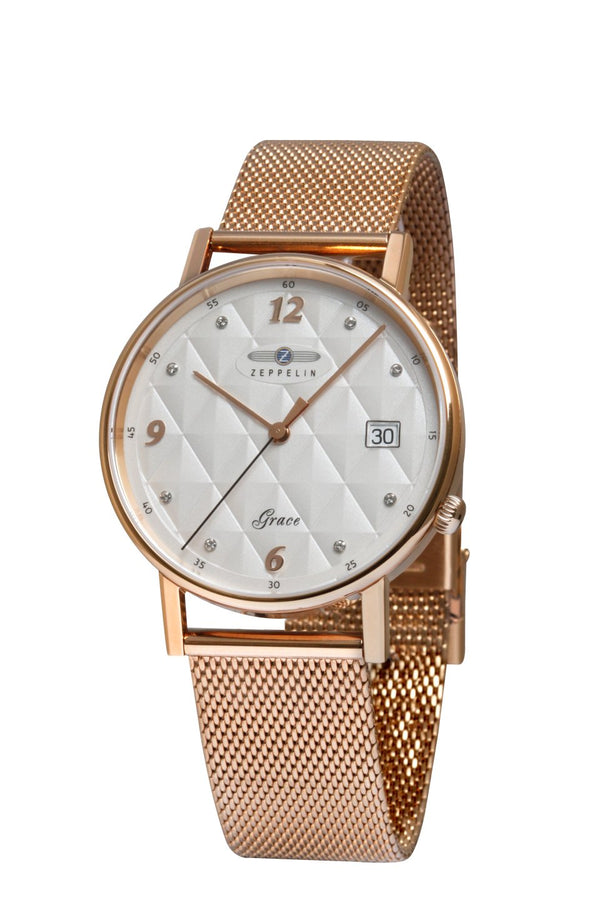 Zeppelin Grace Lady Rose Gold Tone Watch 7443M-1