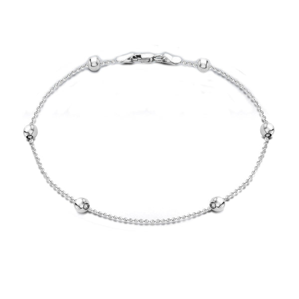 Sterling Silver 4mm Ball Chain Anklet