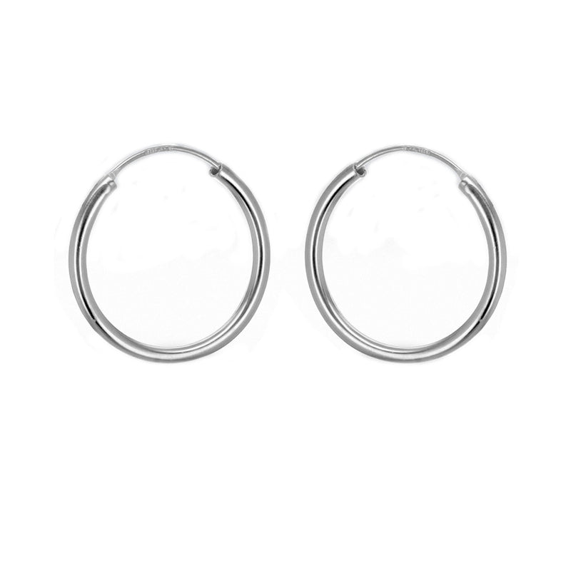 Sterling Silver 19mm Sleeper Hoop Earrings