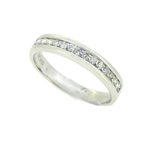 Diamond Eternity Ring 0.20ct Channel Set 9ct White Gold