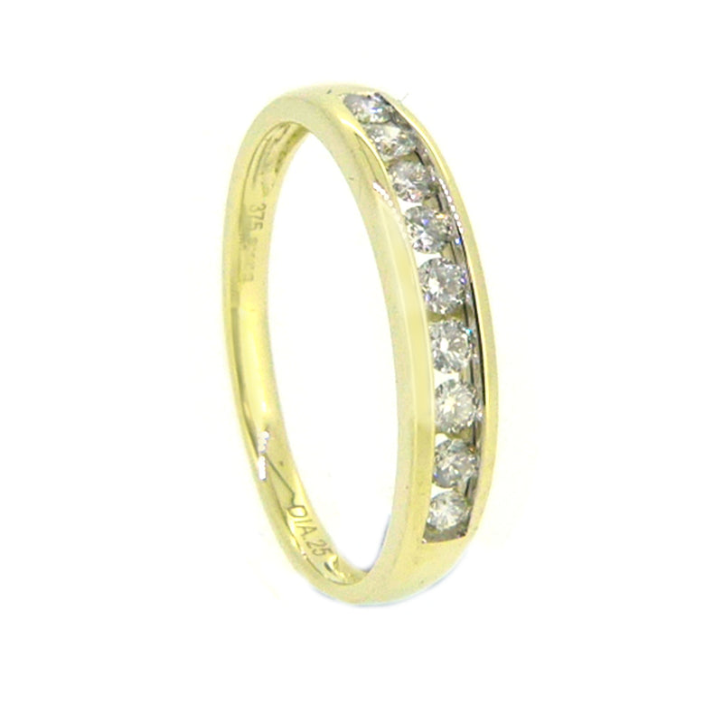 Diamond Eternity Ring 0.25ct Channel Set 9ct Gold 80883 side