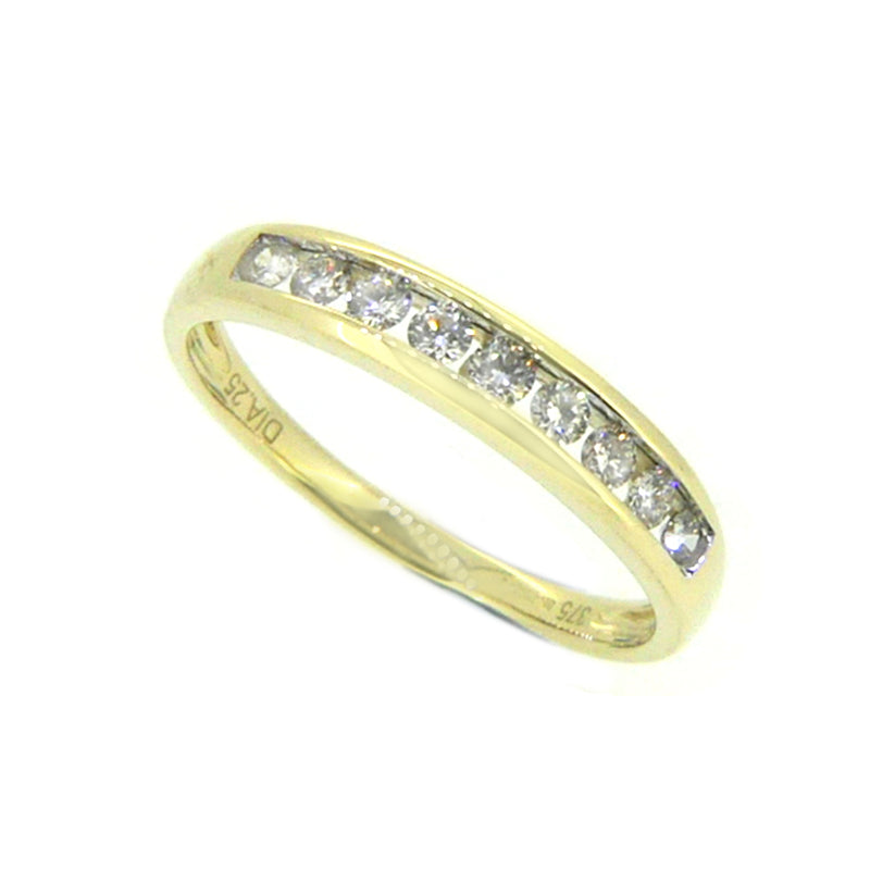 Diamond Eternity Ring 0.25ct Channel Set 9ct Gold 80883
