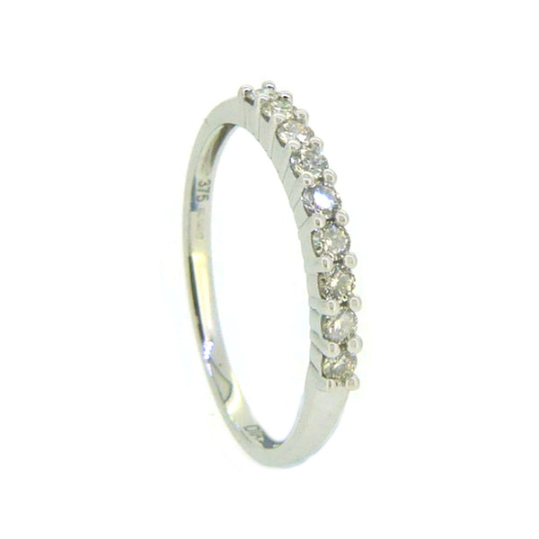 Diamond Eternity Ring 0.25ct Claw Set 9ct White Gold side