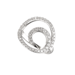 Amore Silver Swirly Curl CZ Ring 9064SILCZ