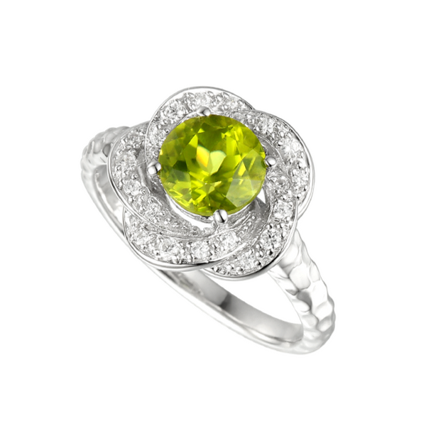 Peridot & CZ Cluster Ring by Amore