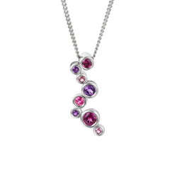 Amore Argento Rhapsody Pink Necklace 9107