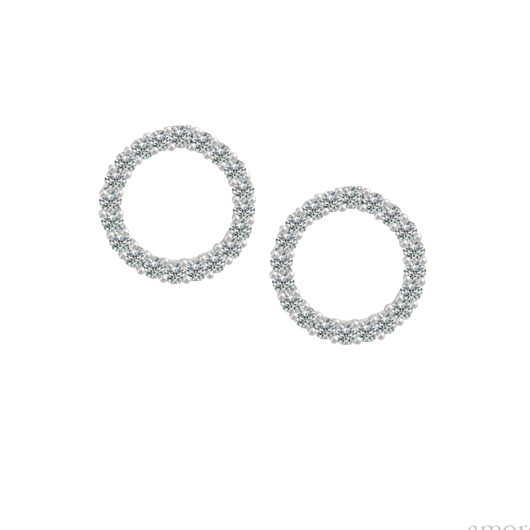Circle of Life CZ Earrings Sterling Silver