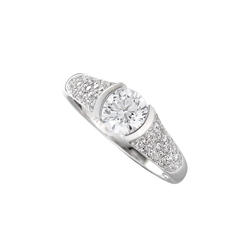 Amore Dazzle CZ Sterling Silver Ring 9151