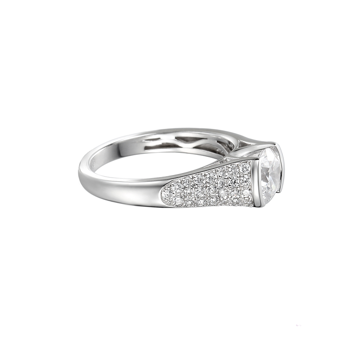 Amore Dazzle CZ Sterling Silver Ring 9151 side